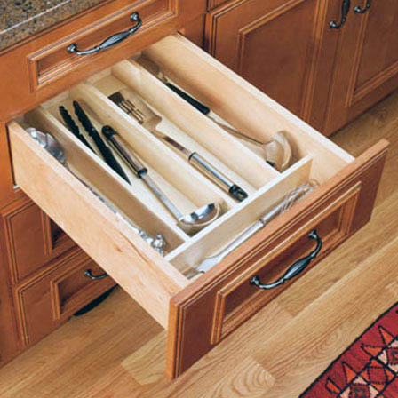 Wood Utensil Tray