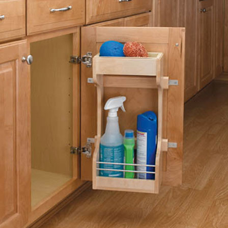 Wood Sink Storage Rack